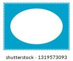vector vintage oval border... | Shutterstock .eps vector #1319573093