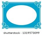 vector vintage oval border... | Shutterstock .eps vector #1319573099