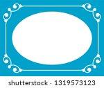 vector vintage oval border...   Shutterstock .eps vector #1319573123