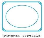 vector vintage oval border...   Shutterstock .eps vector #1319573126