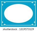 vector vintage oval border...   Shutterstock .eps vector #1319573129