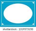 vector vintage oval border...   Shutterstock .eps vector #1319573150