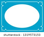 vector vintage oval border... | Shutterstock .eps vector #1319573153