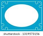 vector vintage oval border... | Shutterstock .eps vector #1319573156