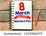 8 march women's day card or...   Shutterstock . vector #1319580479