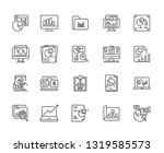 set of big data analytics... | Shutterstock .eps vector #1319585573