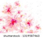 floral romantic tender pink... | Shutterstock . vector #1319587463