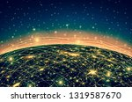 best internet concept of global ... | Shutterstock . vector #1319587670