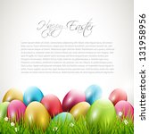 Modern Easter Background With...