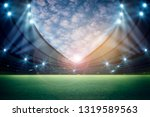 lights at night and stadium 3d... | Shutterstock . vector #1319589563