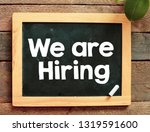 we are hiring text business...   Shutterstock . vector #1319591600