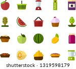 color flat icon set   apple... | Shutterstock .eps vector #1319598179