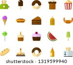 color flat icon set   easter... | Shutterstock .eps vector #1319599940