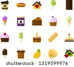 color flat icon set   easter... | Shutterstock .eps vector #1319599976
