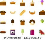 color flat icon set   easter... | Shutterstock .eps vector #1319600159