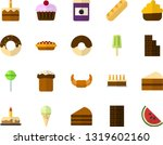 color flat icon set   easter... | Shutterstock .eps vector #1319602160
