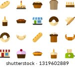 color flat icon set   easter... | Shutterstock .eps vector #1319602889
