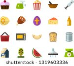 color flat icon set   easter... | Shutterstock .eps vector #1319603336