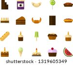 color flat icon set   holiday... | Shutterstock .eps vector #1319605349