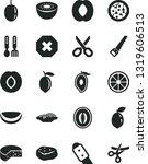 solid black vector icon set  ... | Shutterstock .eps vector #1319606513