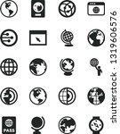 solid black vector icon set  ...   Shutterstock .eps vector #1319606576