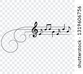 ornamental musical design... | Shutterstock .eps vector #1319606756