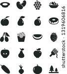 solid black vector icon set  ... | Shutterstock .eps vector #1319606816