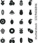 solid black vector icon set  ... | Shutterstock .eps vector #1319606846