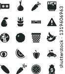 solid black vector icon set  ... | Shutterstock .eps vector #1319606963