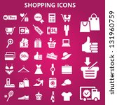 set of shopping icons. vector... | Shutterstock .eps vector #131960759