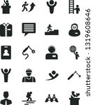solid black vector icon set  ... | Shutterstock .eps vector #1319608646