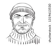 man character   coloring page... | Shutterstock .eps vector #1319613530