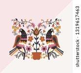 folk motif greeting card.... | Shutterstock .eps vector #1319617463