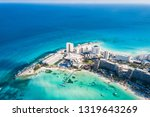 aerial photography of cancun... | Shutterstock . vector #1319643269