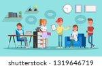 business people working in... | Shutterstock .eps vector #1319646719