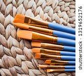 watercolour golden synthetic...   Shutterstock . vector #1319652176