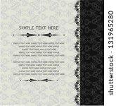 vintage background  invitation  ... | Shutterstock .eps vector #131965280