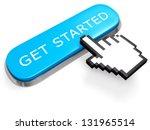 networking concept. blue get...   Shutterstock . vector #131965514