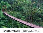 Hanging Wooden Bridge With...