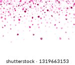 pink hearts confetti valentines ... | Shutterstock .eps vector #1319663153