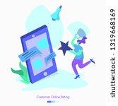 illustration customer online...