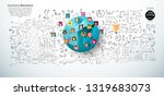 people various with social... | Shutterstock .eps vector #1319683073