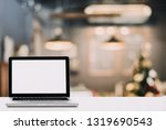 empty space desk white with on... | Shutterstock . vector #1319690543
