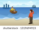 a vector illustration of two... | Shutterstock .eps vector #1319694923
