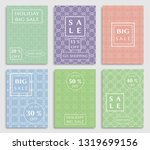 sale banners  flyers with... | Shutterstock .eps vector #1319699156