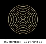 concentric circle element. gold ... | Shutterstock .eps vector #1319704583