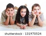 three bosom friends having fun... | Shutterstock . vector #131970524