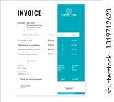 business invoice template vector   Shutterstock .eps vector #1319712623