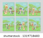 set of six title pages for... | Shutterstock .eps vector #1319718683