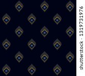 navy blue background ditzy... | Shutterstock .eps vector #1319731976